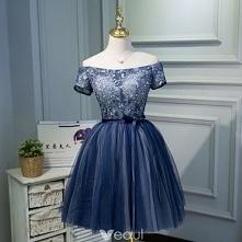 Piękne Granatowe Sukienki K...