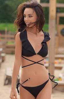 Qso MIDNIGHT biustonosz bikini Seksowny biustonosz plażowy wykonany z wysokie...