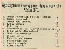 Panna młoda 1870 r.