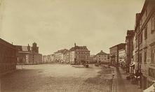 Plac Zamkowy. Widok na Krakowskie Przedmieście - Warszawa 1870