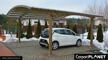 nowoczena wiata garażowa z drewna projekt W4 bez pozwolenia cena z m2 490 pln...