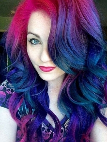 colourfull ombre hairstyle