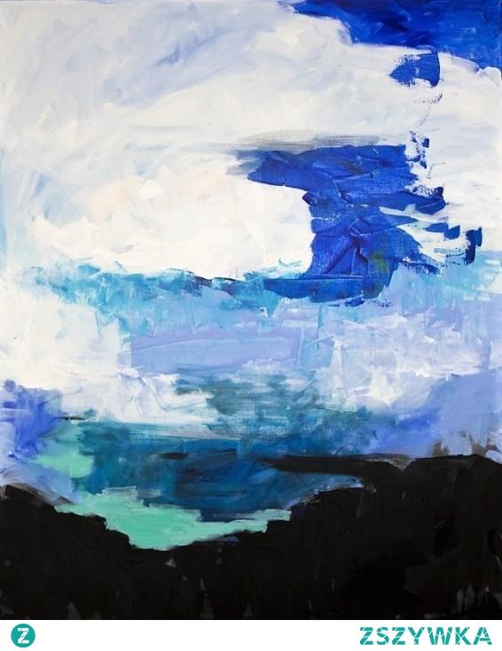 Abstrakcja Obraz Namalowany Farbami Akrylowymi Prze Na Obrazy