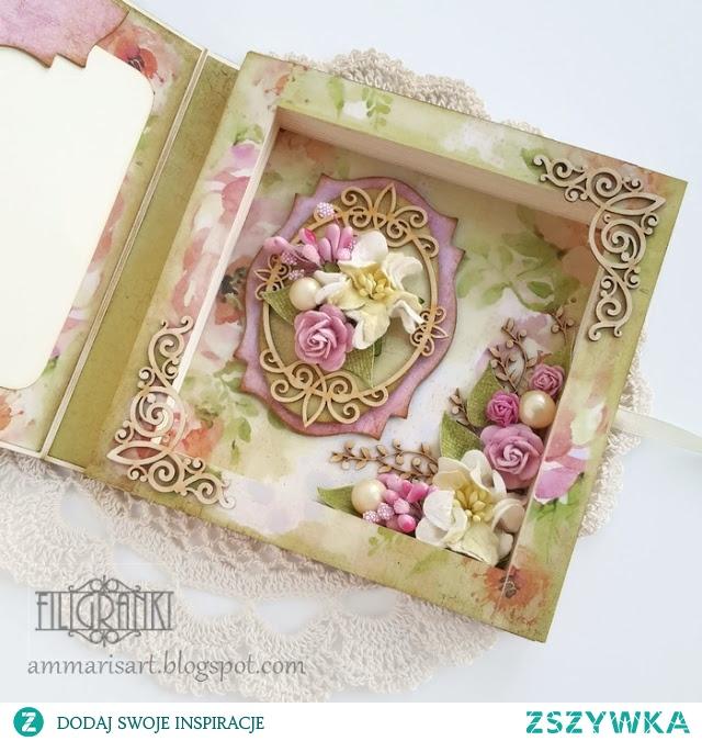 Kartka w formie książki, wnętrze kartki