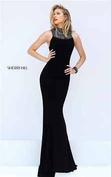 1683d060a6c3f Halter Embellished Beads Low Back Fitted Long Dress Prom 2017 From Sherri  Hill 50629 [Sherri Hill... 2-Piece Print Sherri Hill 51122 Lace Embroidered  Junior ...