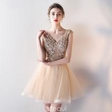 Piękne Szampan Sukienki Kok...
