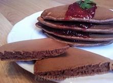 Pancakes - PrzyslijPrzepis.pl 20 porcje Łatwy Składniki - mleko: 1.5 szklanki - olej: 4.5 łyżki - mąka: 1.75 szklanki - proszek do pieczenia: 2 łyżeczki - jajka: 2 sztuki - cuki...