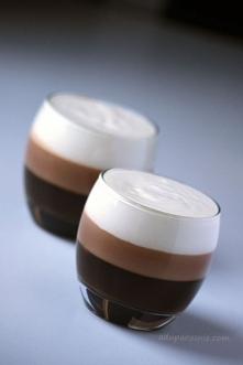 Galaretka kawowo-czekoladowa  Składniki na 2 duże porcje:  2 łyżeczki żelatyn...