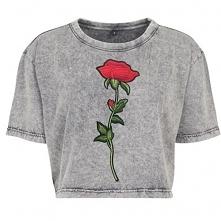 T-shirt crop z naszywkami do kupienia na swagshoponline.pl ♥ NOWA KOLEKCJA! W...