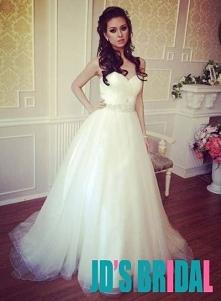 JOL315 tanie po prostu sweetheart szyi tiul suknia balowa suknia ślubna