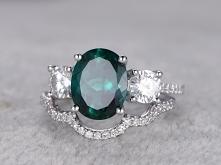 2.5 Carat Emerald Engagemen...