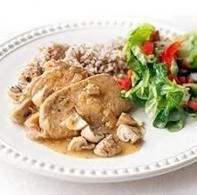 Schab gotowany w sosie z pieczarkami | Kwestia Smaku  4 porcje  1/2 łyżki mas...