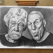 Mój najnowszy portret: Ian McKellen i Patrick Stewart :)   Kliknij w zdjęcie ...