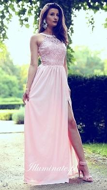 Piękna pudroworóżowa długa sukienka z kolekcji Illuminate <3