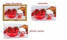 Co powiecie na  #truskaweczki?? Jeden obraz w różnych odsłonach  na #płótnie #antyramie  #ramie może rozweselić  Waszą kuchnie.  Którą wersje wybieracie.