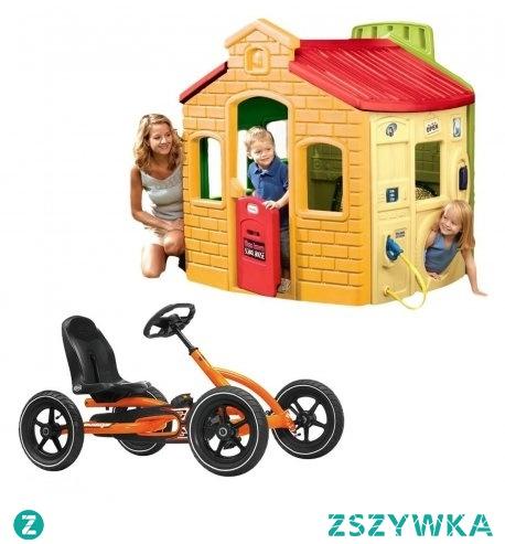 Zestaw Little Tikes Miejski domek ogrodowy + BERG Gokart na pedały Buddy Orange