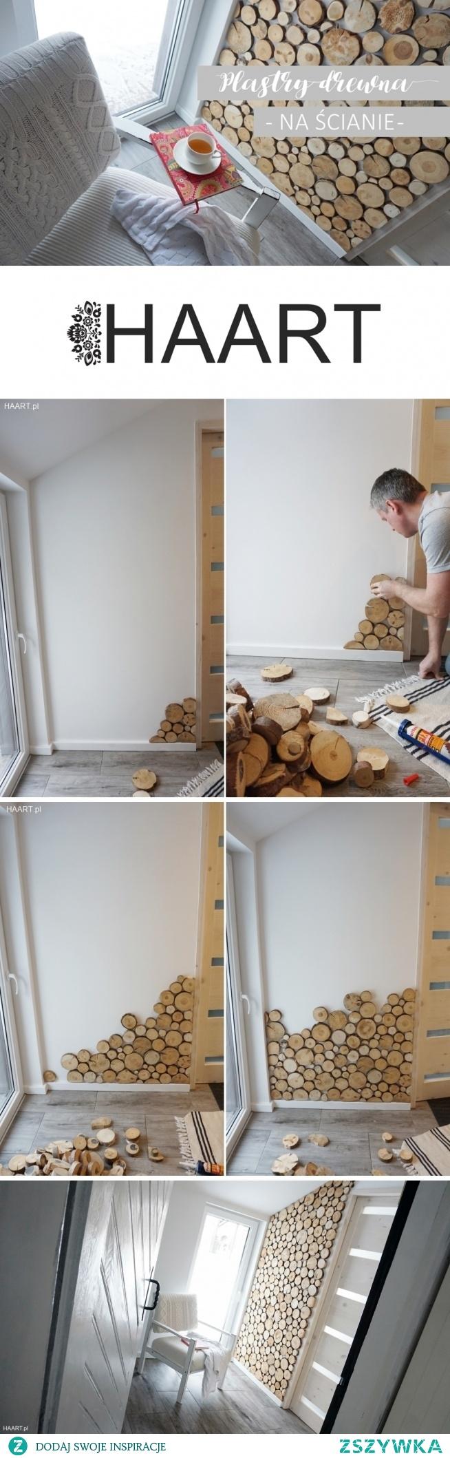 HAART blog DIY  Ściana z plastrami drewna. Więcej na blogu!