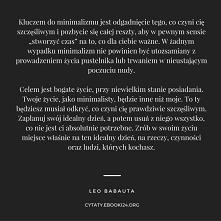 Leo Babauta cytat o minimalizmie