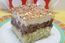 Pyszne ciasto ambasador-z masą orzechowo-czekoladową i cytrynową