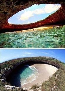 Ukryta plaża na wyspie Mari...