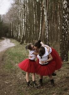 Komplet spódnic dla Mamy i Córki- tu w kolorze czerwonym!! Kliknięcie przekie...