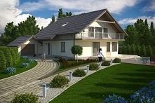 Projekt domu DM-5600 DUBIECKO Dom parterowy z garażem, z poddaszem mieszkalnym, z podpiwniczeniem.