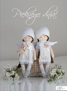 Niedługo komunie, więc aniołki ubierają się w biel. Zapraszam serdecznie w niedzielę wieczorem na Allegro jeśli komuś potrzebny taki maluszek :-)