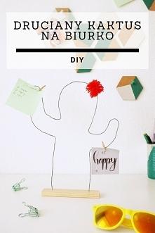 DIY Druciany kaktus na biur...