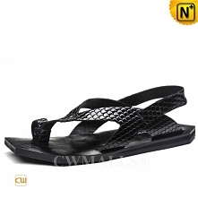 CWMALLS® Los Angeles Embossed Leather Sandals CW708301[Global Free Shipping]