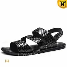 CWMALLS® Sydney Embossed Leather Strap Sandals CW708300[Global Free Shipping]