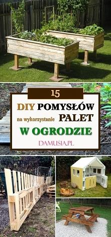 15 DIY Pomysłow na Wykorzystanie Palet w Ogrodzie