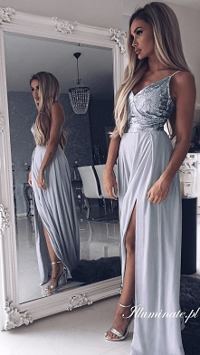 Piękna długa sukienka z kol...