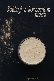 Koktajl z korzeniem maca  Składniki:      1 szklanka dowolnego mleka     1 łyżka sproszkowanego korzenia maca     2 daktyle     1 banan     szczypta cynamonu     1 łyżeczka mała...