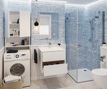 aranżacja łazienkowa z wykorzystaniem regału nad pralkę - praktyczne i funkcjonalne rozwiązanie