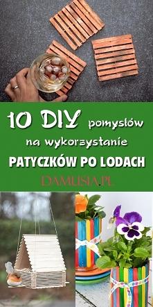 10 DIY Pomysłów na Dekoracje i Ozdoby z Patyczków po Lodach