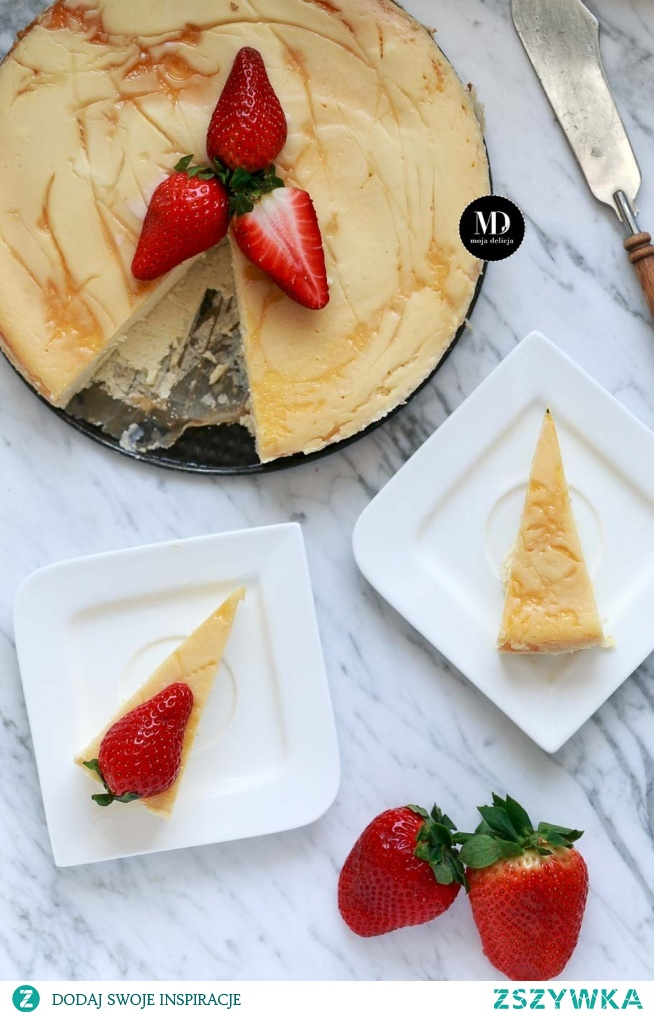 Sernik waniliowy - bez glutenu | Moja Delicja // Gluten free baked vanilla cheesecake