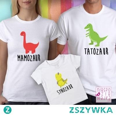 "Komplet dla rodziców ""Mamozaur, Tatozaur, Synozaur"""