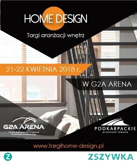 Targi HOME DESIGN   Wystawcy z całej Polski! Pokazy, warsztaty i konferencje! Wschodzące gwiazdy polskiego designu! To jedynie ułamek tego, co będzie się działo podczas I edycji największych na Podkarpaciu Targów Aranżacji  Wnętrz HOME DESIGN. W weekend  21-22 kwietnia w G2A Arena odbędą się największe na Podkarpaciu targi branży wnętrzarskiej!
