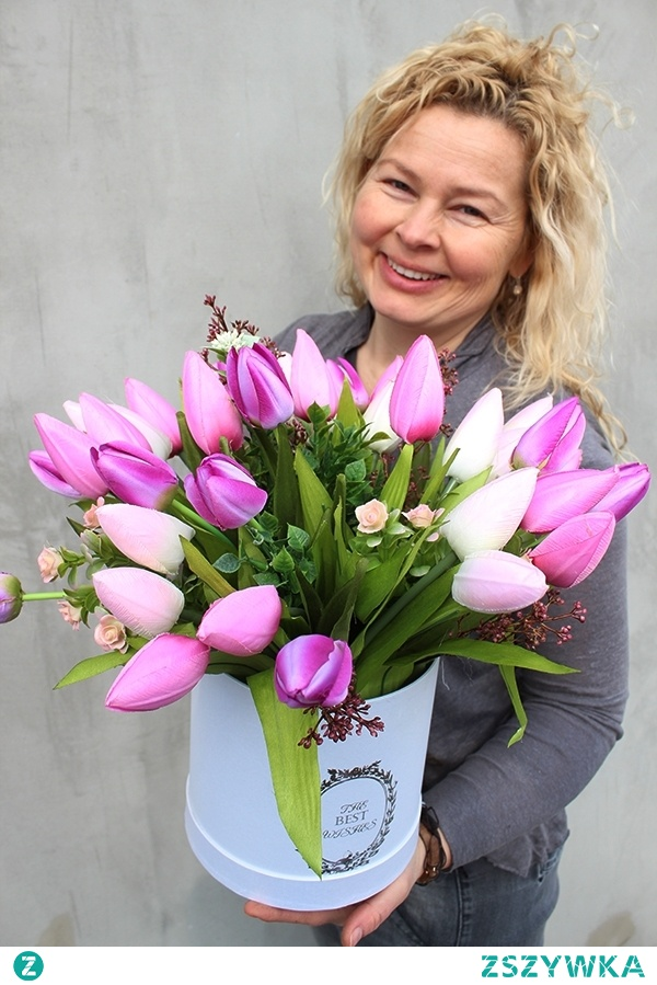 tulipany we flower boxie - sztuczne kwiaty wysokiej jakości od tendom