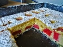 Ciasto z rabarbarem szybkie i pulchne