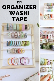 DIY Organizer na washi tape...