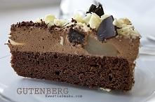 Tort Gutenberg  Tort czekoladowy z gruszkami zatopionymi w puszystym i lekkim...
