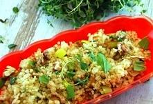 Quinoa z porem i ziołami