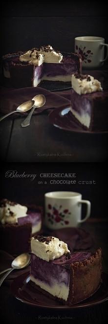 Sernik jagodowy na czekolad...