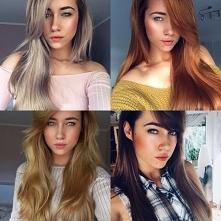 Moje roczne zmiany :O a według Was który kolor najlepszy? ;)