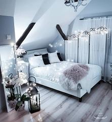 sypialnia poddasze ikea home&you pepco lampion lampki