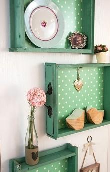 półki ze starych szuflad :)