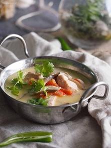 Tajska zupa z łososiem / Thai salmon soup