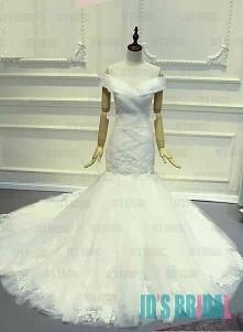 JW16189 nowa suknia ślubna z syrenką z długimi rękawami