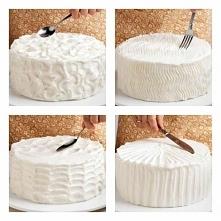 banalne dekoracje tortów przy użyciu tego, co każda z nas ma, czyli sztućców!